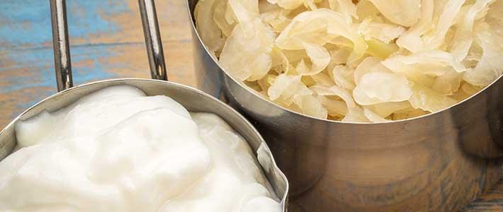 Joghurt und Sauerkraut gut für die Darmflora